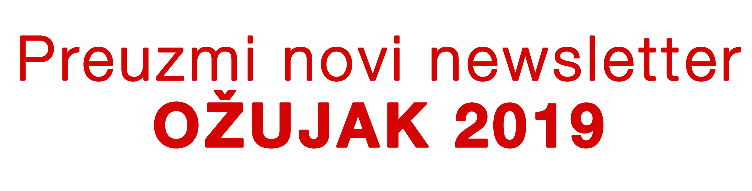 newsletter ozujak 2019
